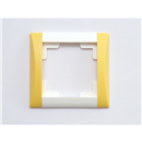 Frame, 1-fold, white / sunflower-yellow
